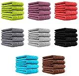 4er Pack Handtücher Set 50x100 cm 100% Baumwolle Qualität 600 g/m² in 8 modernen Farben Anthrazit
