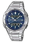 Casio Wave Ceptor Herrenarmbanduhr WVA-M650D-2AER, Solar und Funkuhr, blau, massives Edelstahlgehäuse und Armband