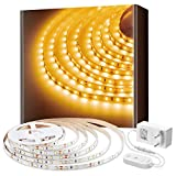 Govee 5m 3000K Warmweiss LED Strip, LED Lichtband, 300 LEDs, warmweiß, dimmbar, für Spiegel Deko...