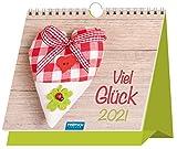 Aufstellkalender 'Viel Glück!' 2021: 15 x 13 cm