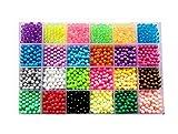 vytung Refill Pack 3600 bastelperlen glitzerperlen 24 Farben(6 leuchten im Dunkeln) mit Stiftplatten Bastelset für Kinder mit Perlen und Zubehör (Beads Refill pack2)