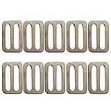 SaniMomo 10 Stück 1 '' Edelstahl Schiebeschnalle Für Hundehalsband Gewicht Gürtel Rucksack Tasche
