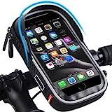 WESTLIGHT Wasserdicht Fahrradlenkertasche Handyhalterung Handyhalter Fahrrad Tasche Fahrradtasche Rahmentaschen für Handy GPS Navi und andere Edge bis zu 6.5 Zoll Geräte