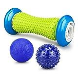 Fußmassageroller und Massagebälle für Plantarfasziitis,E-More Muskel Roller & Fußmassage Balls - Schmerzlinderung für Hacken & Fußgewölbe,Stressreduzierung und Entspannung durch Triggerpunkt-Therapie