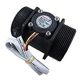 DIGITEN G1-1/2' G3,8 cm Wasserdurchflusssensor, Hall-Effekt-Sensor, Durchflussmesser, Steuerung 5-150 l/min, kompatibel mit Arduino, Raspberry Pi und Umkehrosmose-Filtern