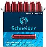 Schneider 6602 6x Tintenpatrone 10er Packung rot