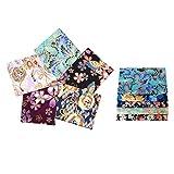 F Fityle 10er/Pack Japanische Stil Baumwolle Stoffe - 20x25cm Patchwork Stoffpakete Dekostoff Bekleidung DIY Basteln