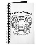 CafePress Notizbuch, Footwork of Recovery, Spiralbindung, persönliches Tagebuch, blanko