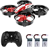 Holy Stone HS210 Mini Drone RC Drone pour enfants et débutants, Mini Quadrocopter RC Helicopter Indoor avec 3 batteries, contrôle automatique de l'altitude, virage 3D, décollage / atterrissage en appuyant sur un bouton, etc.