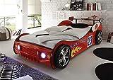 möbelando Bett Kinderbett Jugendbett Auto Kinder Jugend Autobett Letta I Rot