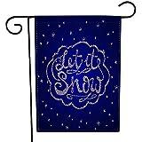 Overlooked Shop Garten-Flagge im Freien ließ Schnee-Weihnachtsretro- Plakat-Winter-Dekorations-Element-Silber-Beschaffenheits-dekorative Yard-Flagge