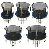 Zero Gravity Garten-Trampolin Ultima 4 für Kinder, mit Sicherheitsnetz und Leiter, blau/gelb, 366 cm