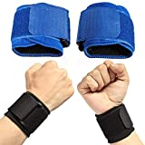 Betsy Galbraith Handgelenkstütze Schutzhandgelenkstütze Einstellbare Gewichtheber Elastische Weiche Pressurized Armband Ideal for Volleyball Tennis Durable Sports (Color : Blue)