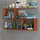 GAOX Wand-Bücherregal Schlafzimmer Wohnzimmer Wanddekoration Regal Arbeitszimmer Regal -1030 (Color : C, Size : 80 * 15 * 65CM)
