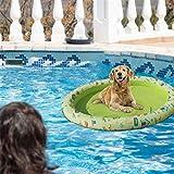 smilerr Aufblasbarer Hundepool Float, schwimmendes Flo fr Erwachsene Hunde und Welpen, Hundepool Float Haustier Hngematte, 210D Oxford Stoff Haustier Hund Katze Float Frhling Sommer Sturdy