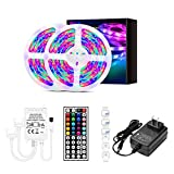 WXDL LED Strip, 2835 RGB Flexibel LED Streifen mit Fernbedienung, IP65 Wasserdicht LED Bänder...