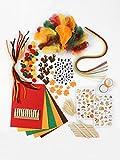 Lulubug Bastelset Herbst   400 Teile  inkl Bastelideen   Washi Tape, Filzblätter, Sticker, Wackelauge, Feder und mehr   ideal zum Basteln für Kinder