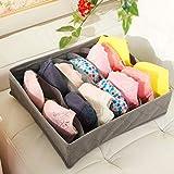 Multifunktionale Kleidung Socken Bra Krawatten Unterwäsche Aufbewahrungsbehälter Organisator Behälter Startseite Tiny Things Storage Box Gray