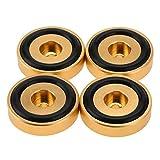 Socobeta Verstärker Pad Anodierung Sandstrahlen Verstärker Pad Füße Verstärker Fuß Stoßdämpfer Rostschutz 40 * 10mm für Verstärker (Golden)