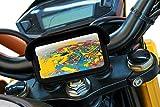 Handyhalterung motorrad mit USB-Ladegerät 2.1A schutzhülle blendschutz Gültig für Smartphones bis 7' Sicherheitskupplung unzerbrechliche Griff am unzerbrechlichen Lenker motorradhalterung handy