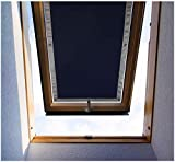 Purovi Thermo Sonnenschutz für Dachfenster | Hitzeschutz für Innen | ohne Bohren ohne kleben | große Auswahl für Velux + Roto Fenster | Ausgewählte Größe: Velux SK08 – 96 x 120cm