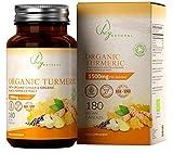 HN Bio Kurkuma Kapseln | 180 vegane Kapseln | Curcumin hochdosiert | Ingwer | 1500 mg pro Portion | Für das Immunsystem & gesunde Gelenke | Soil Association zertifiziert | Gentechnik- & glutenfrei