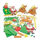 Baker Ross Rentier & Schlitten-Bastelsets (Packung mit 2) - Weihnachtliche Kunst und Bastelhandwerk.