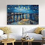 N / A Youge Xingye an der Rhone, vom Maler berhmten Knstler Kunst Poster Wandbild Leinwand rahmenloses Gemlde 60cmX90cm