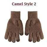 Winter Herbst Warme Männer Strickhandschuhe Flexible Vollfingerhandschuhe Männlich Verdicken Wolle Kaschmir Feste Handschuhe für Smart - Camel 2
