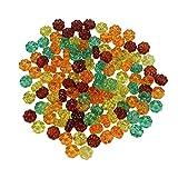 BESPORTBLE 115 Stück/Packung Natürliche Lose Kürbisform Perlen Ball Halloween Acryl Perlen für Schmuck Machen DIY