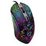 LHTE Mechanische Wired Gaming Mouse, Spiel-Maus, RGB-Beleuchtung High-Speed-Präzisions-Photoelektrische Computer PC Notebook Desktop-USB-Maus
