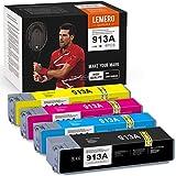 LEMERO SUPERX 913A Competible Druckerpatrone Kompatibel für HP 913A Tintenpatronen für HP PageWide Pro 377dw 377dn Pro 477dw 477dn Managed MFP P55250dw P57750dw Drucker(BK/C/M/Y