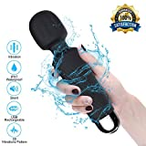 Magic Wand Massagestab, Portable Elektrische Handmassgegeräte, 100% Wasserdicht Handheld Massagegerät Vibration mit 20 Vibrationsmodi und 8 Geschwindigkeiten USB Wiederaufladbar (schwarz)