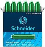 Schneider 6604 6x Tintenpatrone 10er Packung grün
