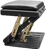 QIUR Verstellbare Fußstütze, 4-stufig verstellbare Höhe und Winkel Bürofuß? Ergonomischer Fußhocker mit Kissen und Massageperlen, Rest Hocker für Zuhause, Reisen, Büro (schwarz)