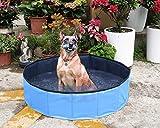 Yidarton Swimming Pool für Hunde Hundepool Doggy Pool Badewanne Pool Umweltfreundliches PVC Hundepool 80x20 cm Blau