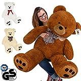 Deuba Riesen Teddy Br XL-XXXL Teddybr 100-175cm samtig weich Plsch Kuscheltier Plschbr Farbwahl