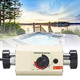 Pbzydu Thermostat der Pool Heizungs 3KW, Mini wasserdichter Warmwasserbereiter Thermostat für Badewannen Swimmingpool Badekurort Massage(EU)