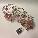 Herzförmige Led-Lichterkette, Weihnachtslichterketten Für Hinterhof, Hof, Café, Party, Hochzeit, Schlafzimmer, Innen, Außen