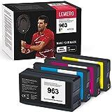 4 LEMERO Wiederaufbereitete Druckerpatronen Ersatz für HP 963 HP963 Kompatibel für HP OfficeJet Pro 9010 9012 9014 9015 9016 9018 9019 9020 9022 9025