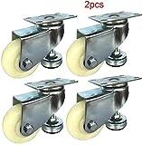 KaKaDz Lenkrolle mit Stützfuß – 4 Stück Möbelrollen 3 Zoll