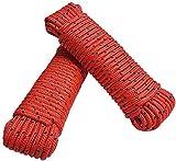 RMJAI Mehrzweckseil 8mm Powerful Weiches Seil 20m Nylonseil Durable Lange Seil