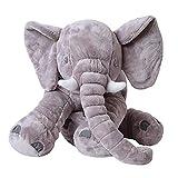 TE-Trend XXL Kuscheltier Plüschtier Kuschelkissen Elefant Elefantenkissen Stofftier Plüschelefant 68cm Grau