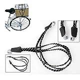 MüLö Elastisches Gurte Spanngurt Seile Gepäckseil, elastisches Bungee-Seil, universell strapazierfähig, elastisch, für Fahrrad, Mountainbike (Black)
