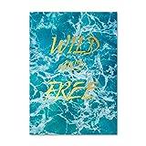 XWArtpic Nordic Sunset Blue Sea Landschaft Leinwand Gemälde Dekoration Wandkunst Bilder Für Wohnzimmer Seascape Poster Und Drucke 50 * 70 cm