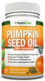 Kürbiskernöl - 1000MG - 180 Softgel Kapseln - Kaltgepresstes natürliches Kürbiskernöl - natürliche Quelle essentieller Fettsäuren - ideal für Haarwachstum, Prostatagesundheit und Gelenksentzündungen