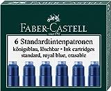 Faber-Castell Tintenpatronen Standard, 6 Stück in Faltschachtel (5 Packungen, königsblau)