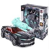 HYBUKDP Verformungsroboter Ransforming Spielzeug Kinder Puzzle Schwarz Polizeiauto Auto Mensch Roboter Modell Kind Boy Geschenke manuell Kugel verwandelt werden kann Deformation Dual-Mode-Feiertags-Ge