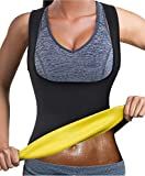 Bingrong Frauen Fitness figurformend Unterbrust Bauchweg Schwitzeffekt, Schwarz, S