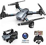 Drone SNAPTAIN A15H avec caméra HD 720P Drone pliable FPV WLAN Quadrocopter RC grand angle 120 ° / mode sans tête / hold up / flips 3D / vol en trajectoire / commande vocale / capteur de gravité / atterrissage d'urgence